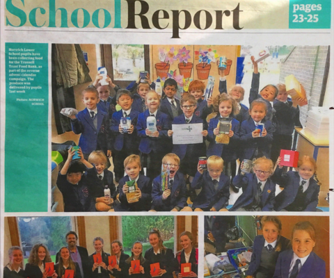 Norwich Lower School Collect Food For Local Foodbank Charity